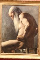 Homme âgé assis, étude académique (1870-1880) - Anonyme